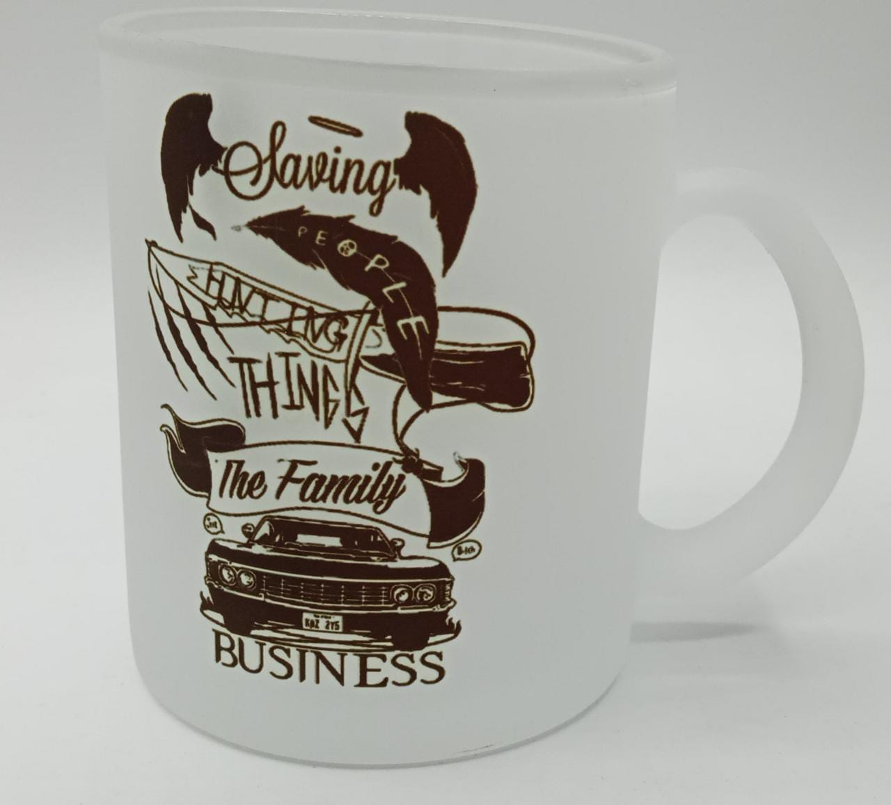 Caneca Fosca ''Saving, People, Hunting, Things, The Family e Business'' - Supernatural