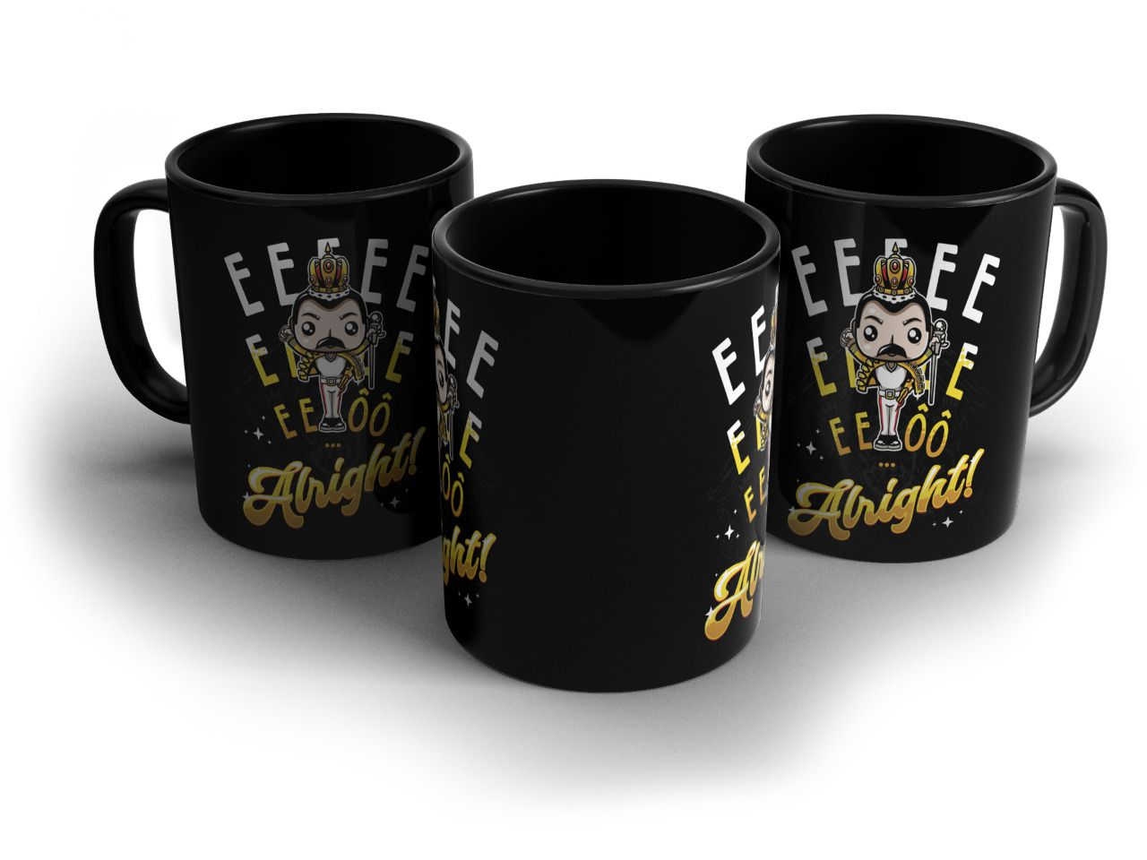 Caneca Freddie Mercury (Wembley): Queen - Exclusiva Toyshow