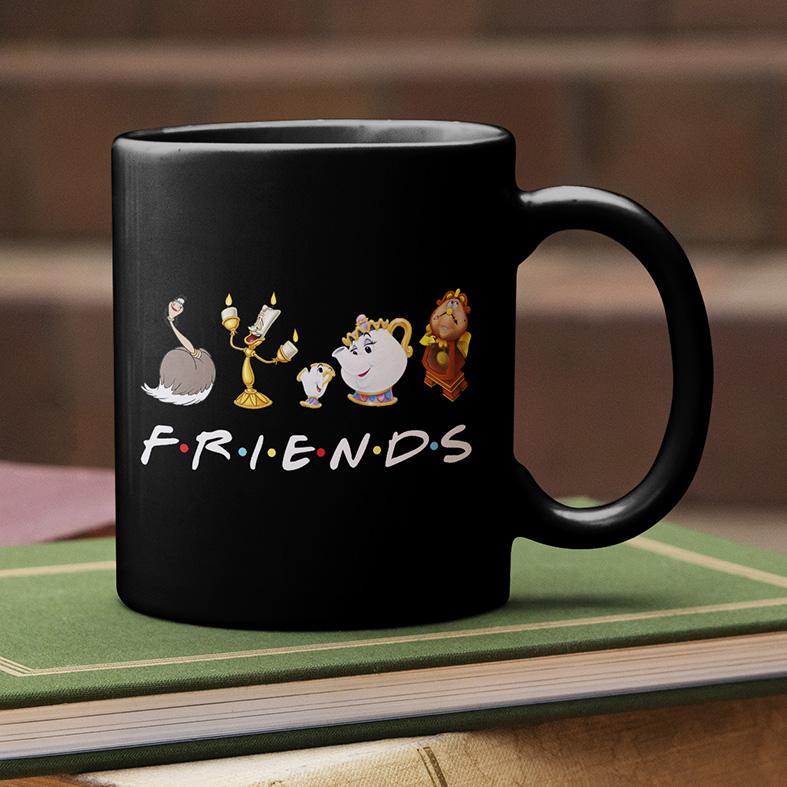 Caneca Friends Personagens Disney (Preta) - EV