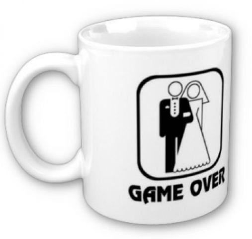 Caneca Game Over (Branco)