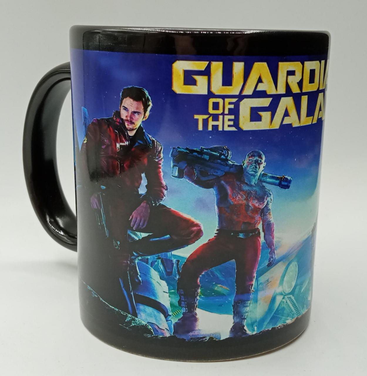 """Caneca Gardiões da Galaxia """"Guardians of the Galaxy"""" (Preta)"""