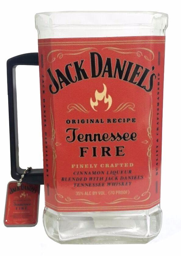 Caneca Garrafa de Jack Daniel's Vermelha
