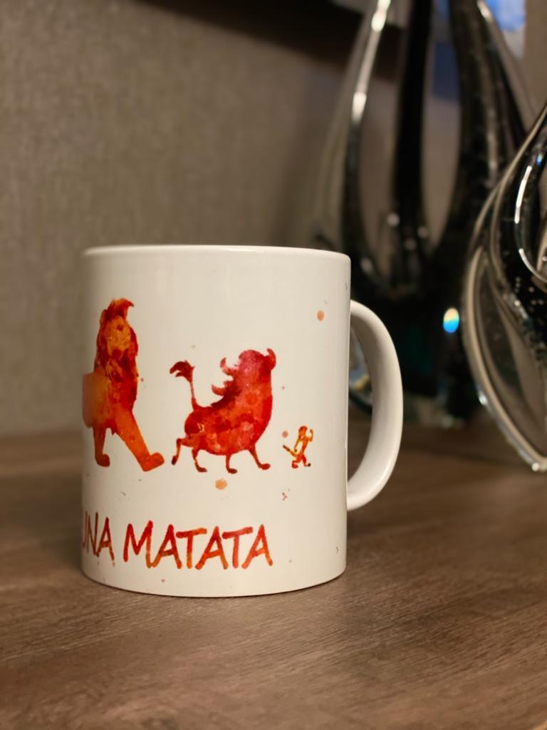 Caneca Hakuna Matata (Branco)