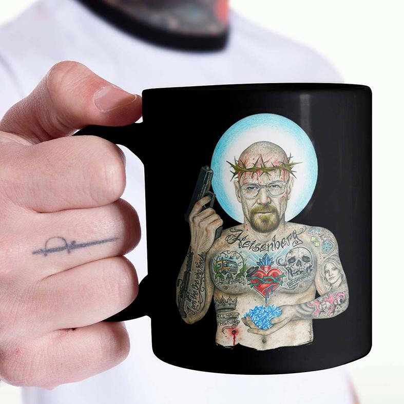 Caneca Heisenberg Breaking Bad Sr Walter White Tattoo Cristal Cookin (Preta) - EV