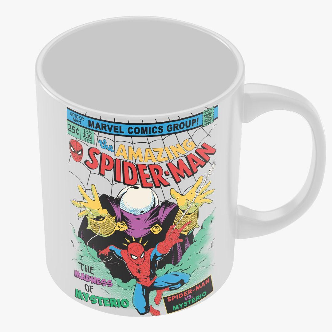 Caneca Homem-Aranha Vs Mysterio (Spider-Man Vs Mysterio): Marvel Comics