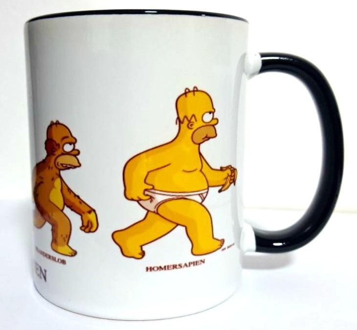 Caneca Homersapien: Os Simpsons