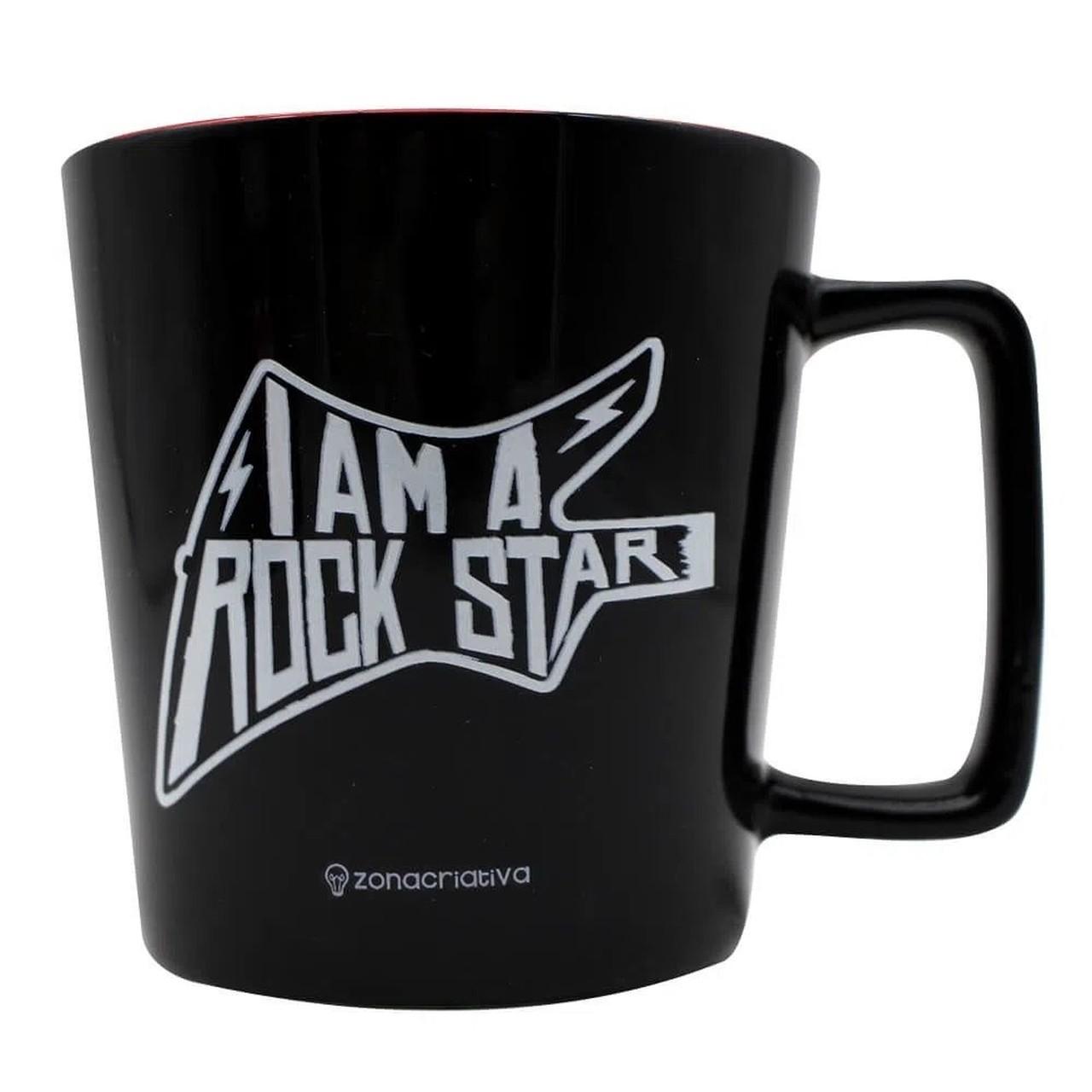 "Caneca Buck ""I Am a Rock Star"": The Rolling Stones (Preto)"