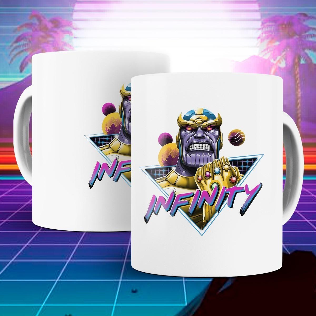 Caneca: '' Infinity '' Thanos ( Marvel ) - Branca