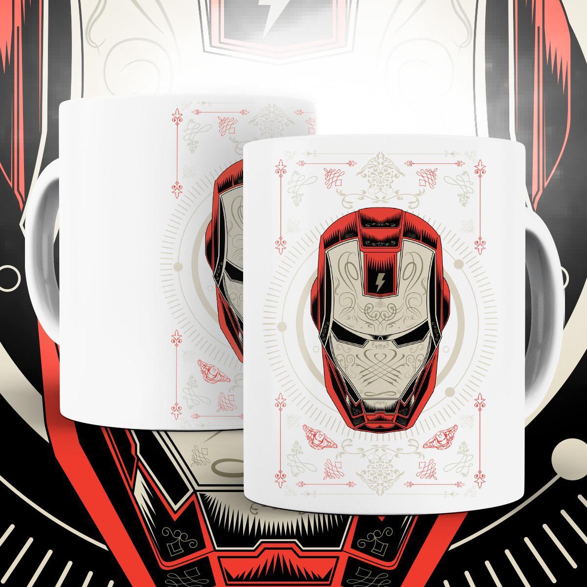 """Caneca """"Iron Man"""": Homem de Ferro - (Branca) - EV"""