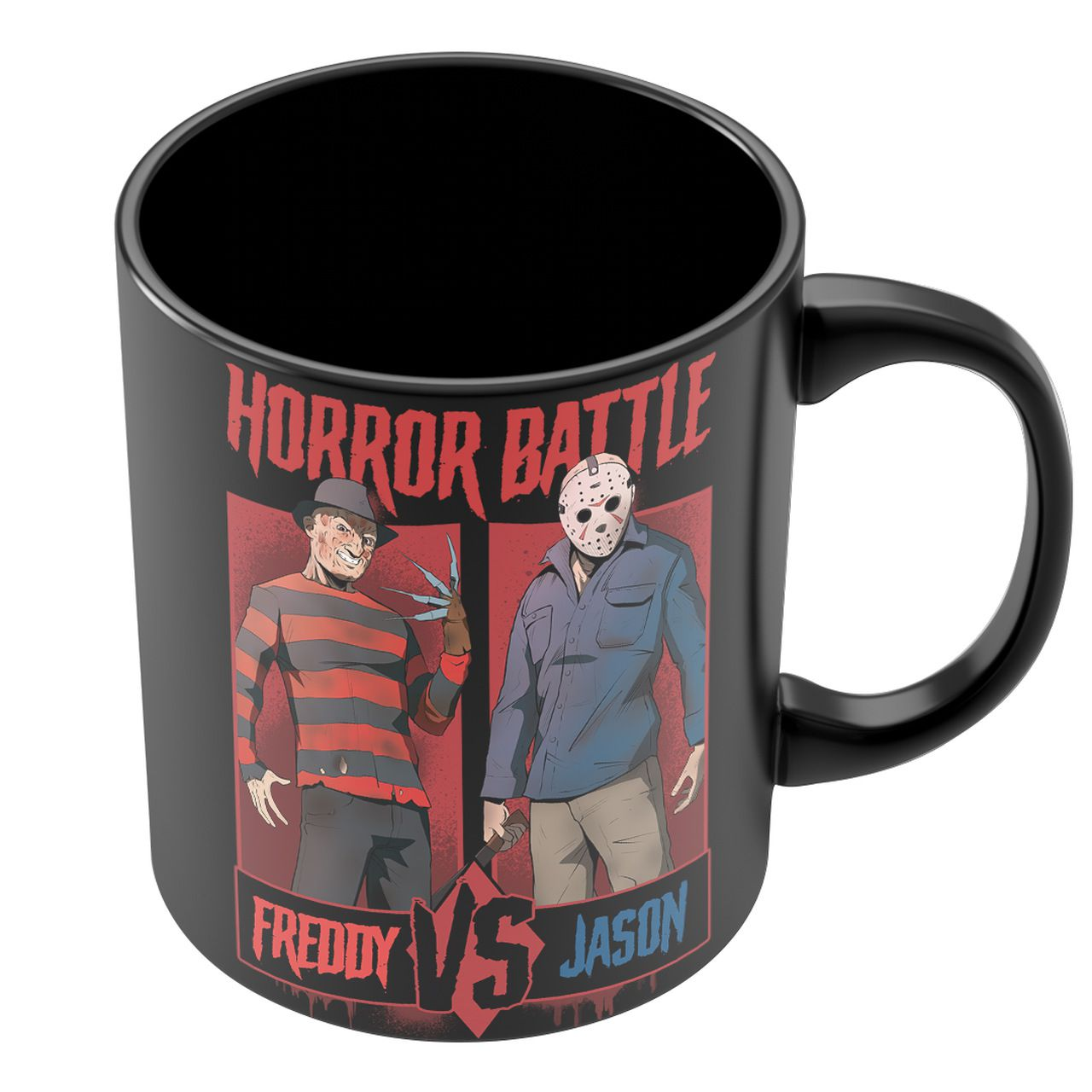 Caneca Jason X Freddy: Horror Battle - Exclusiva Toyshow