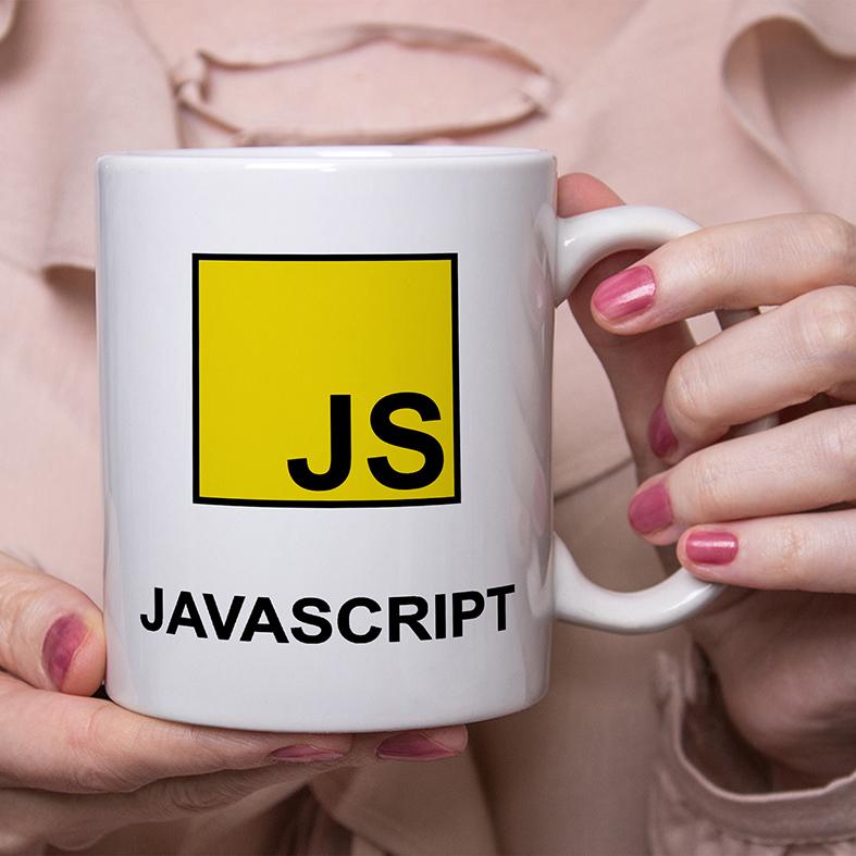 Caneca JavaScript Linguagem Programação HTML CSS World Wide Web (Branca) - EV