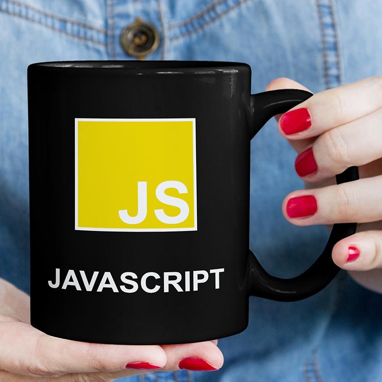 Caneca JavaScript Linguagem Programação HTML CSS World Wide Web (Preta) - EV
