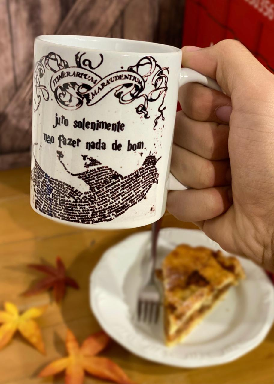 Caneca: ''Juro Solenemente Não Fazer Nada De Bom'' (Mapa do Maroto) - Harry Potter