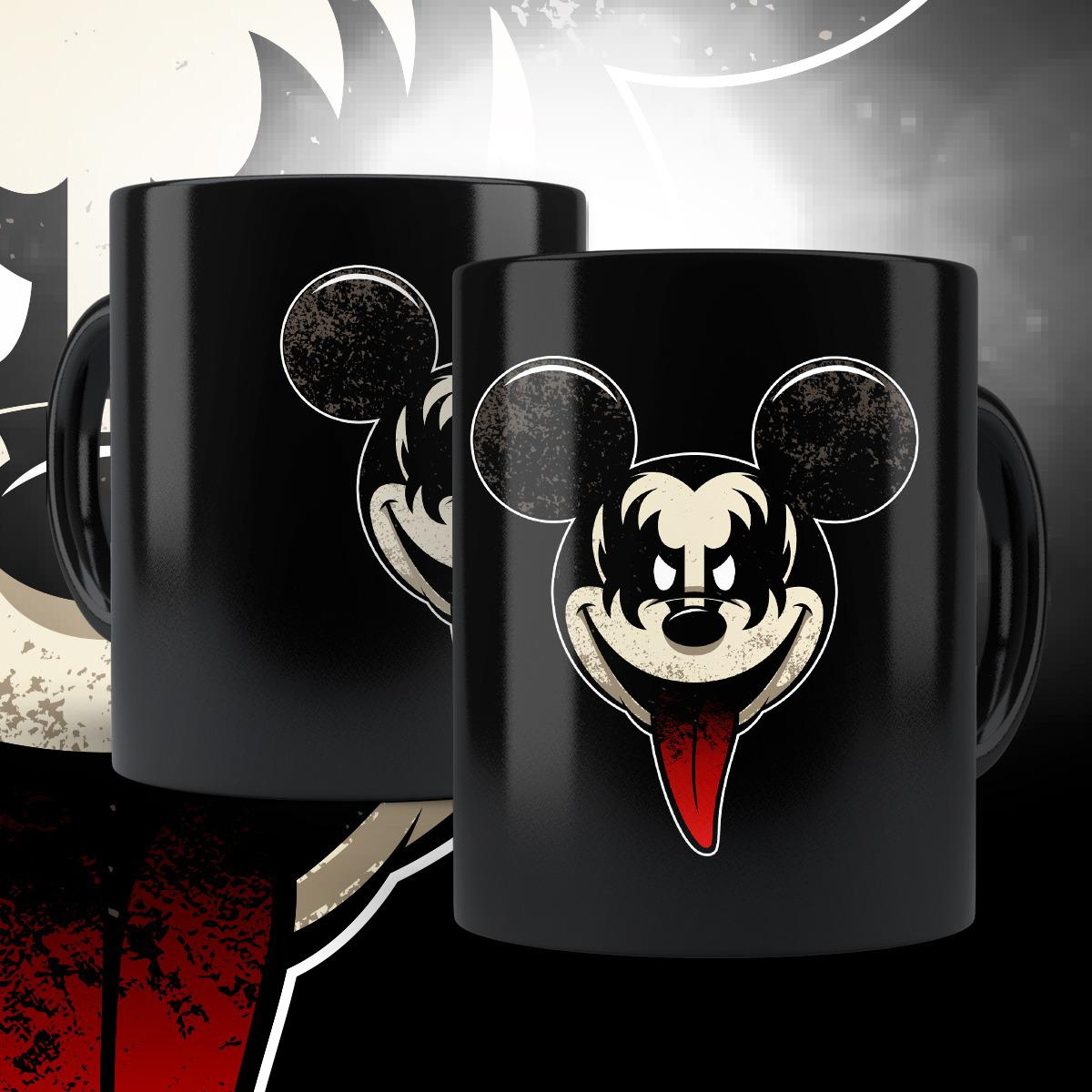 "Caneca ""Kiss"": Mickey Mouse (Preta)"