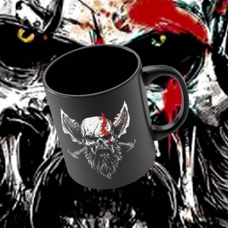 Caneca Kratos: God of War (Preto) - EV