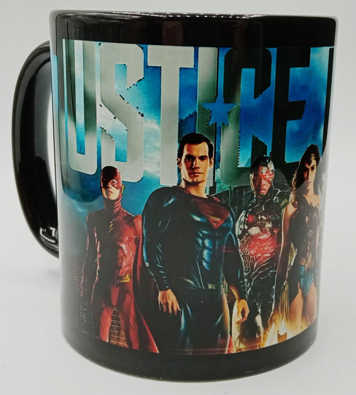 Caneca Liga Da Justiça (Justice League) (Preta)