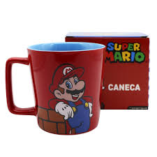 Caneca Logo Mario: Super Mario Bros - (400ML)
