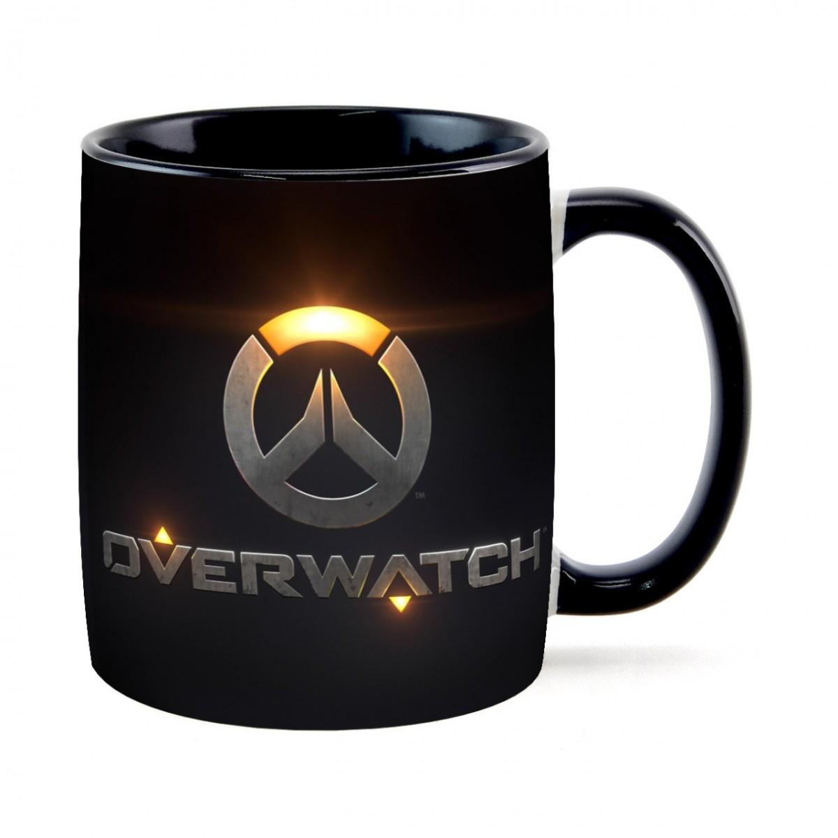Caneca Overwatch: Preta (350 ML)