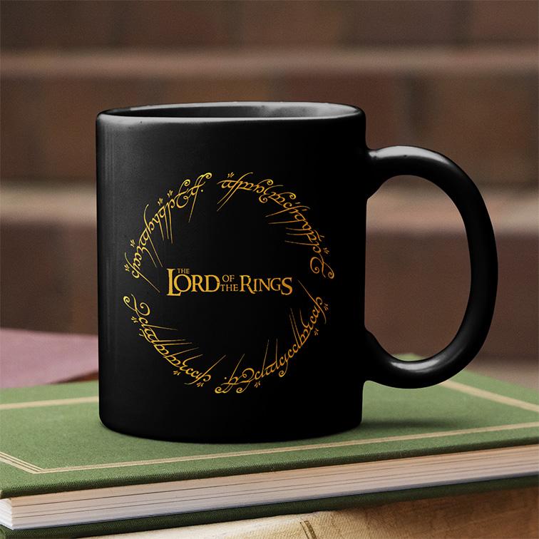 Caneca Lord Of The Rings O Senhor Dos Anéis Anél De Sauron (Preta) - EV