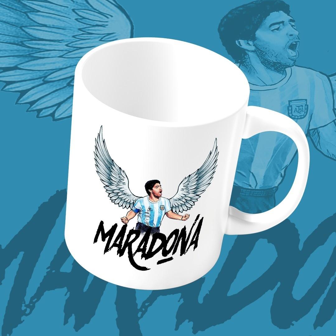 Caneca Maradona Com Asas