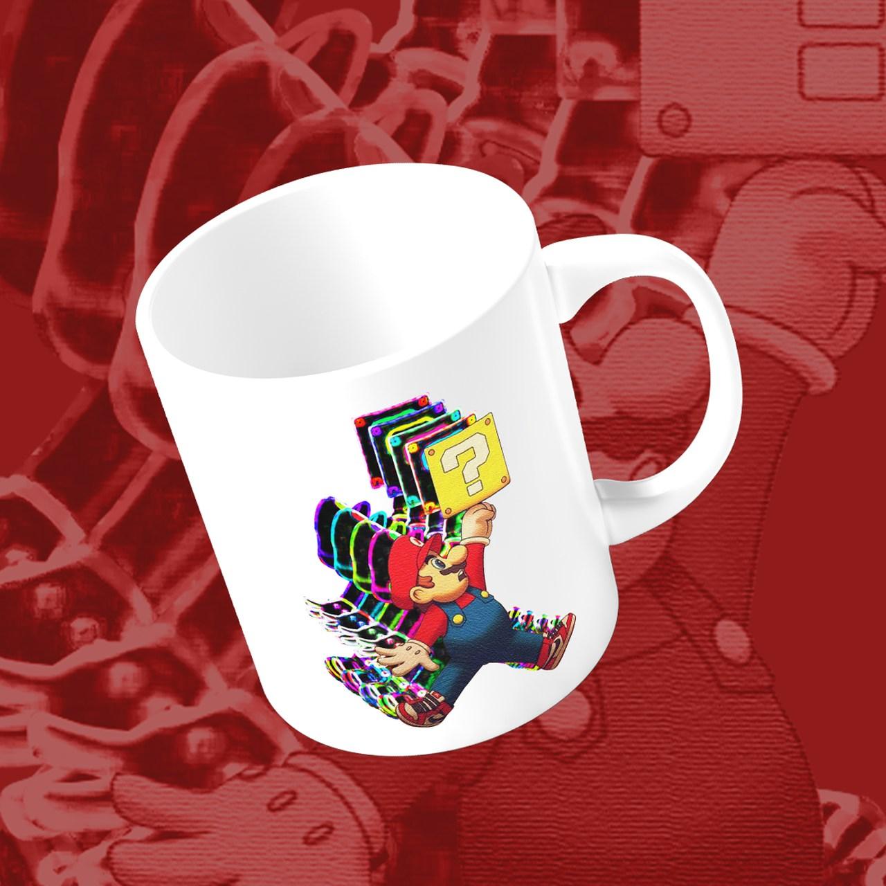 Caneca Mario Jump Dimensional: Nintendo (Branca) - EV