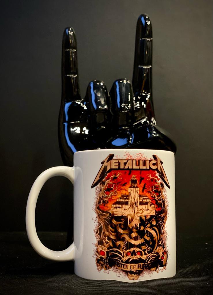 Caneca Master Of Puppets: Metallica (Branco) - EV