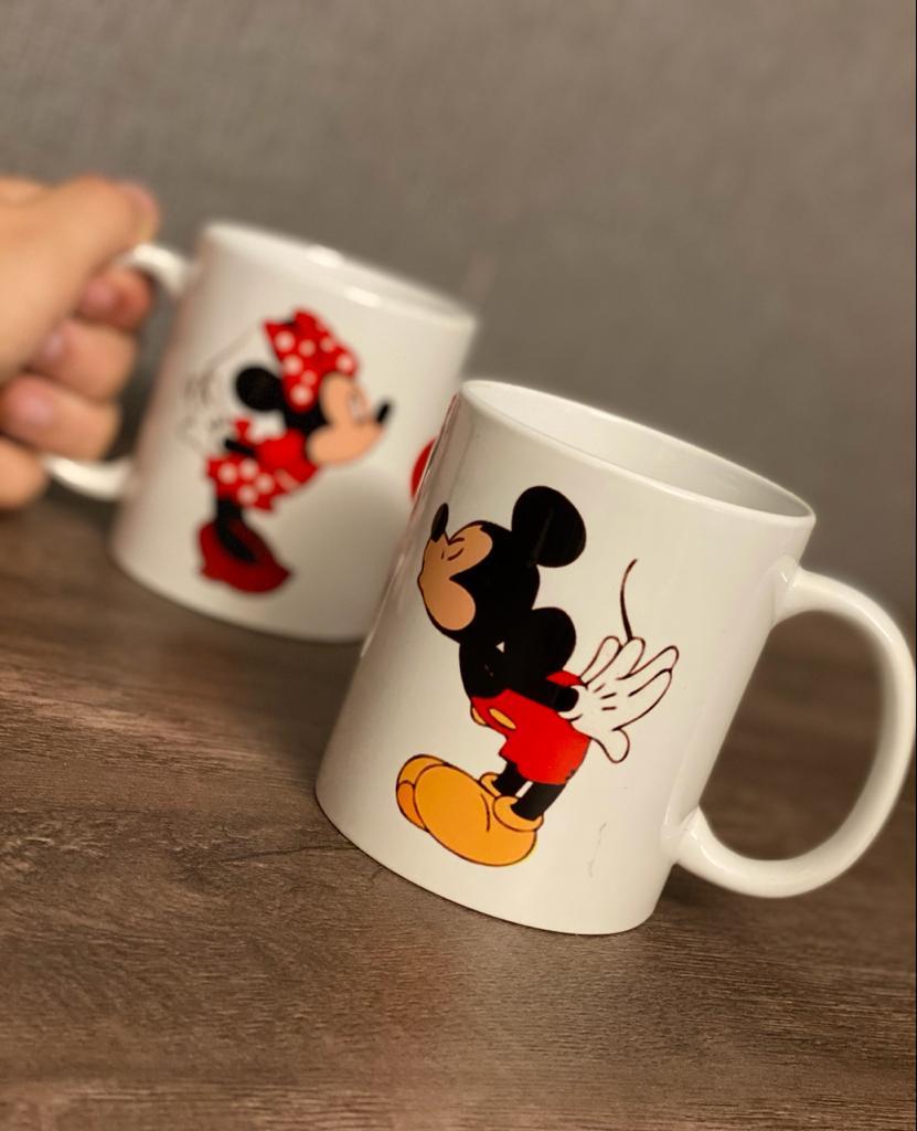 Caneca Mickey e Minnie - Disney - EV