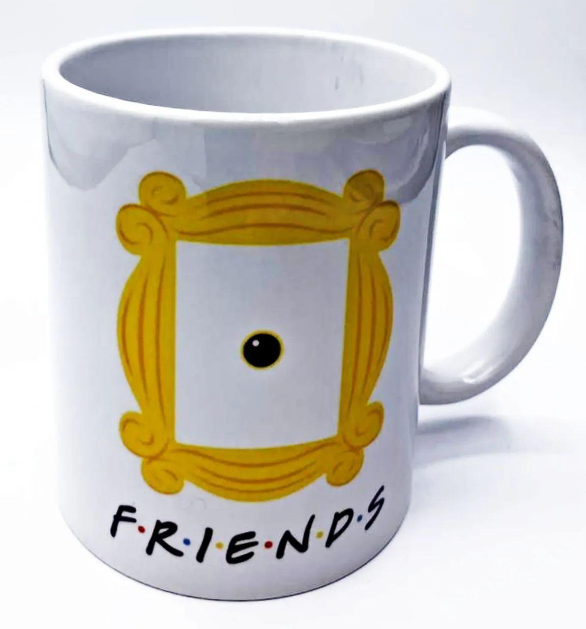 Caneca Moldura: Amigos (Branco)