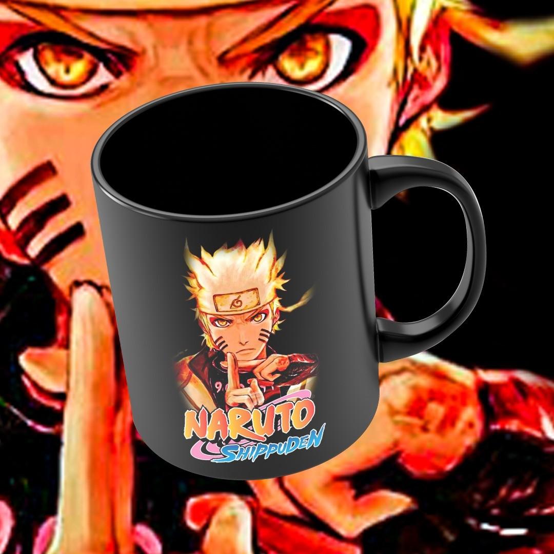 Caneca Naruto Uzumaki: Naruto Shippuden (Preta) - EV