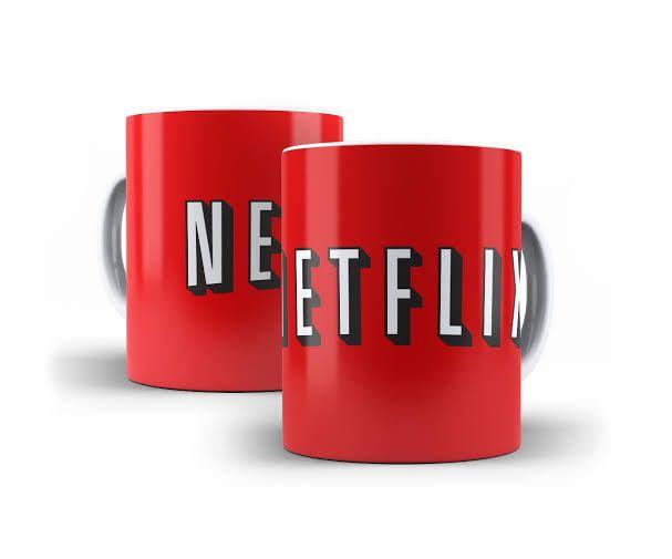 Caneca Netflix (Vermelha) - EV  - Toyshow Geek e Colecionáveis Tudo em Marvel DC Netflix Vídeo Games