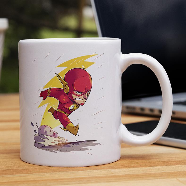 Caneca O Flash The Flash DC Comics Animação Cartoon (Branca) - EV