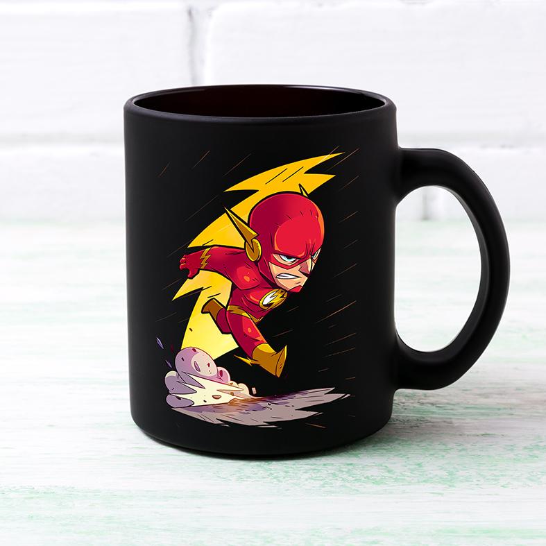 Caneca O Flash The Flash DC Comics Animação Cartoon (Preta) - EV