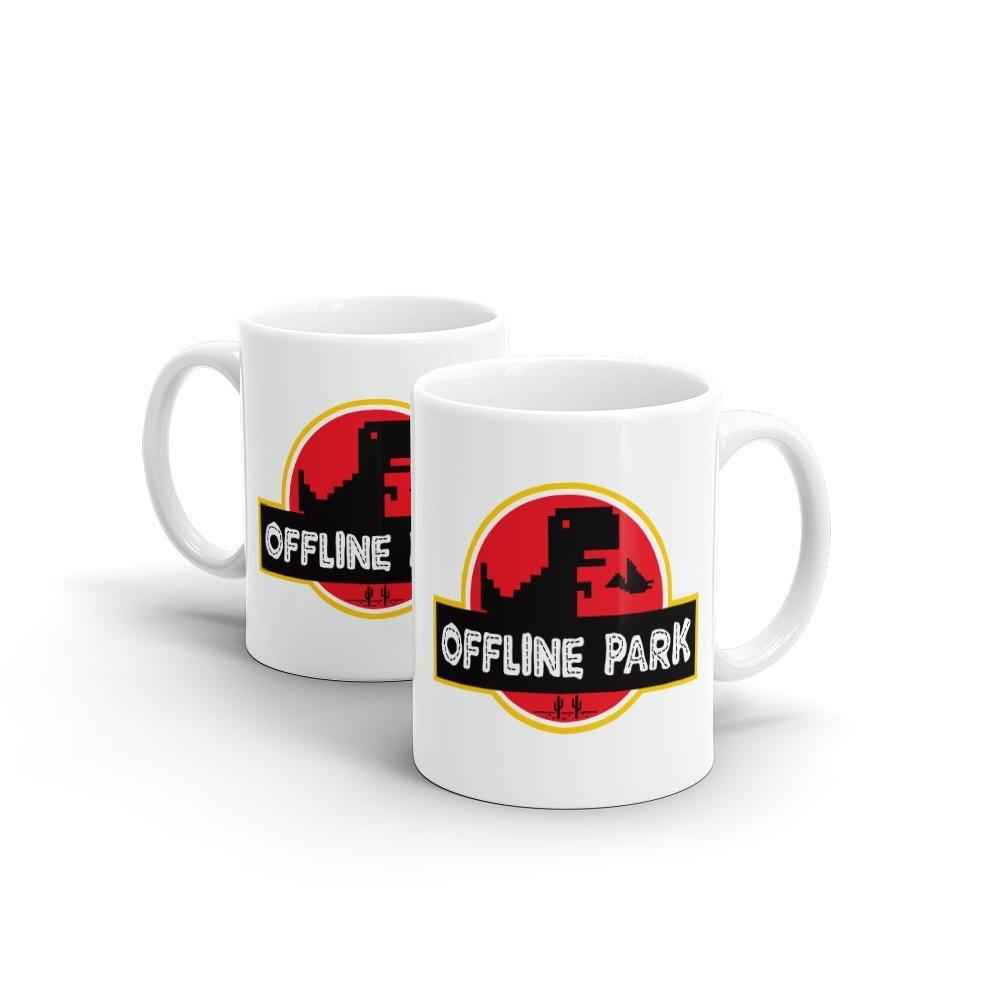 Caneca Offline Park Jurassic Park (Branca) - EV