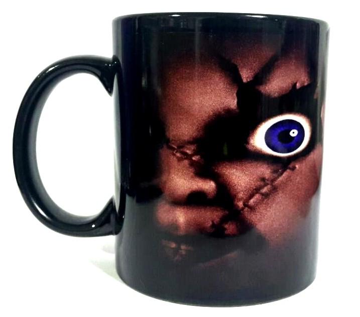 Caneca Olhos Chucky e Tiffany: A Noiva de Chucky