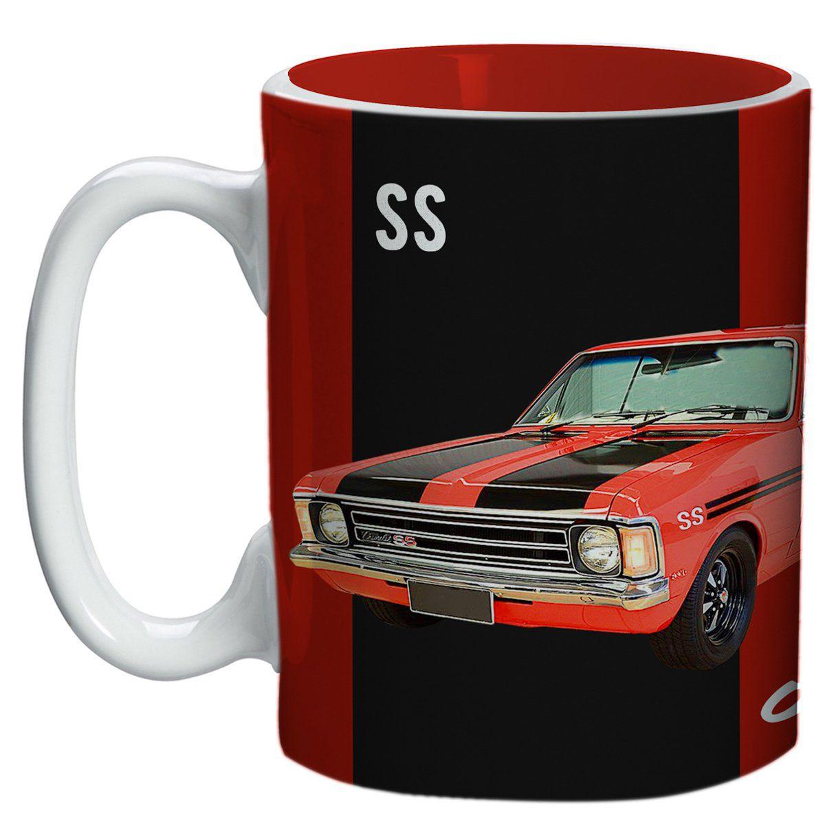 Caneca Opala 1974 SS (Vermelho/Preto): GM (300ML)