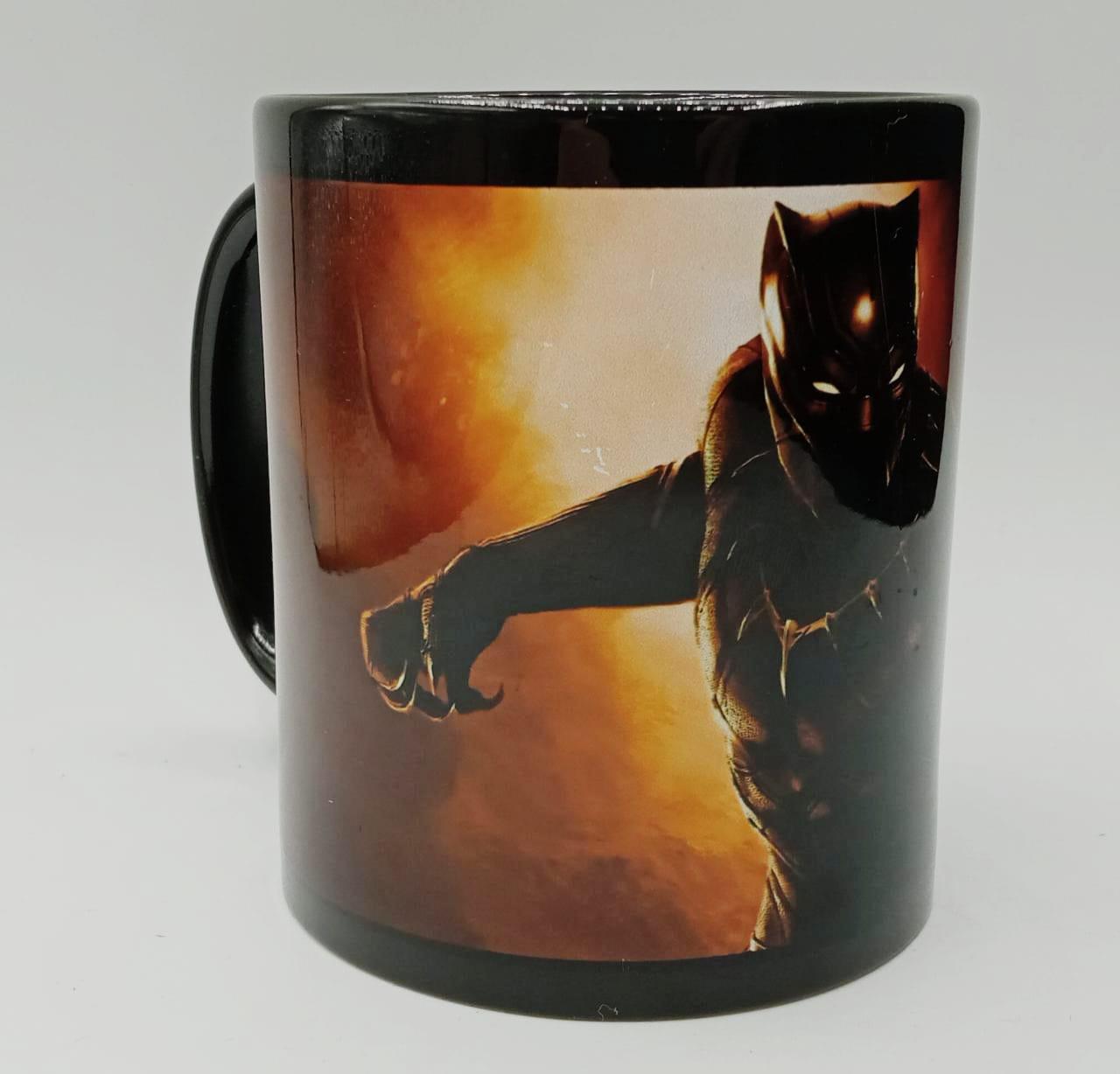 Caneca Pantera Negra Black Panther (Preta)