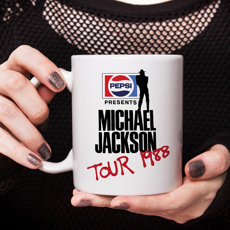 Caneca Pepsi Presents Michael Jackson Tour 1988 (Branca) - EV