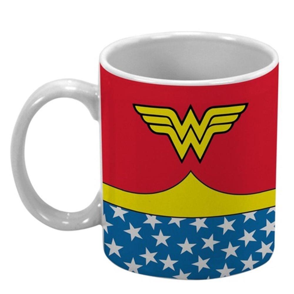 Caneca Mulher Maravilha (Wonder Woman) Branca: DC - (330 ML) - EV