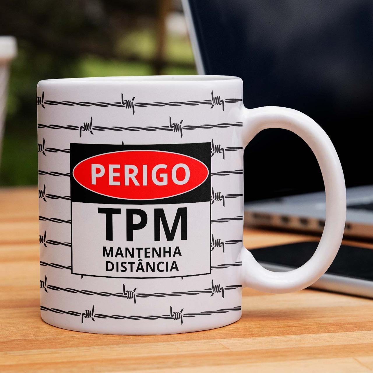 Caneca Perigo TPM Mantenha Distância - 300ml - EV