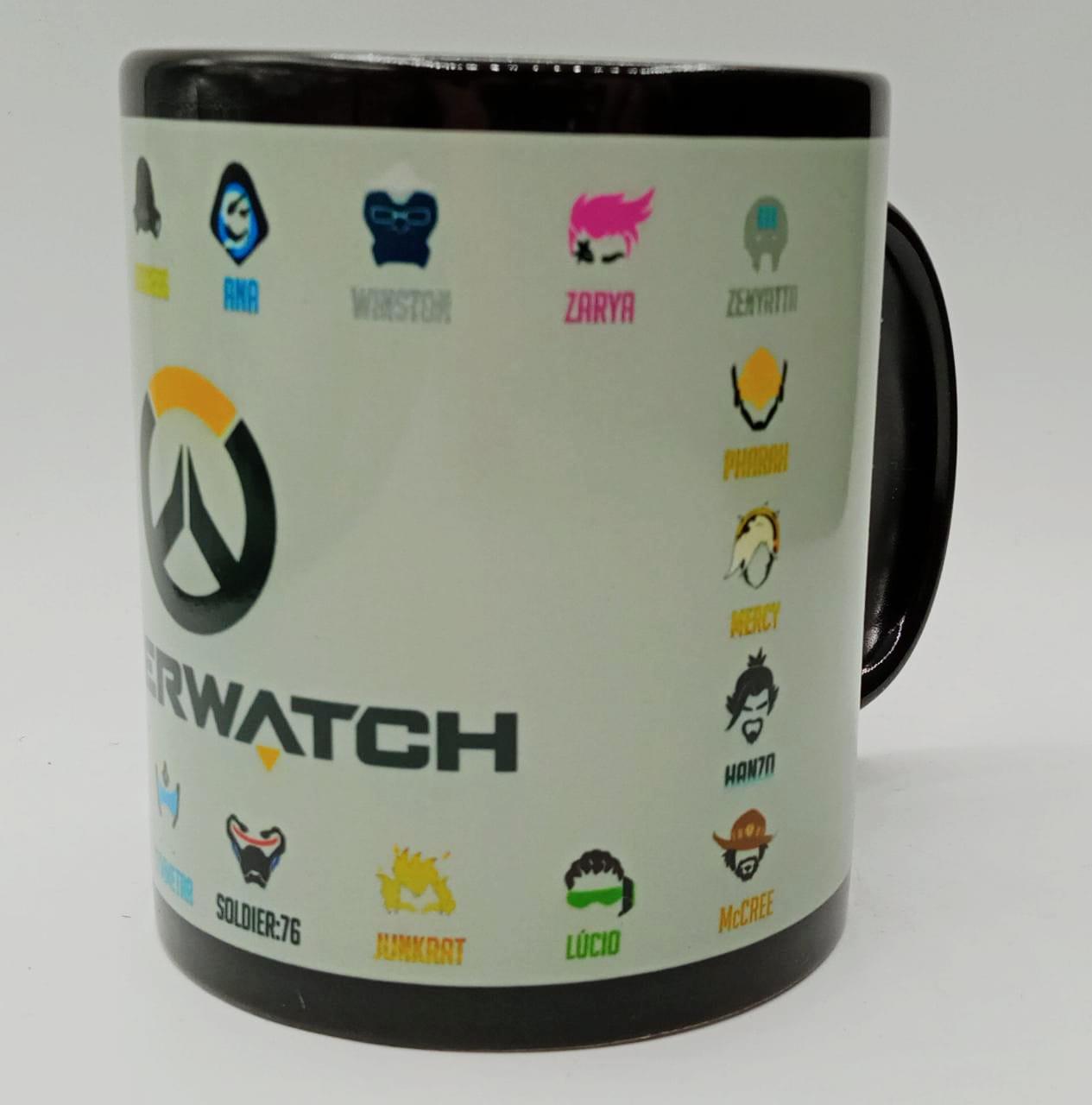 Caneca Personagens Overwatch (Preta)