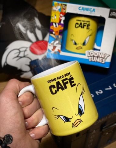 Caneca Piu Piu Tweety Bird Como Fico Sem Café: Looney Tunes - EV