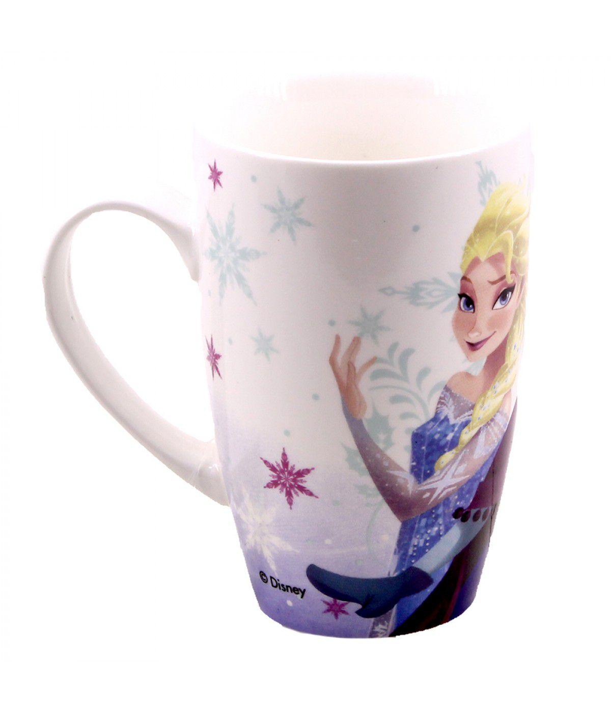 Caneca Porcelana Anna e Elsa: Frozen - 400ml