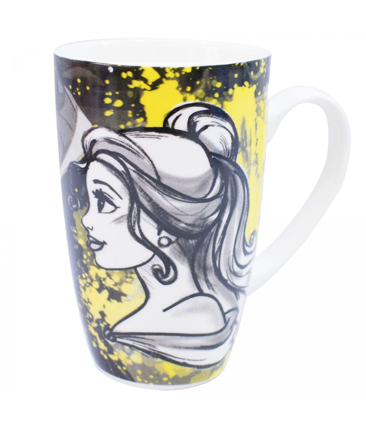 Caneca Porcelana Bela Princesas 400ml - Disney