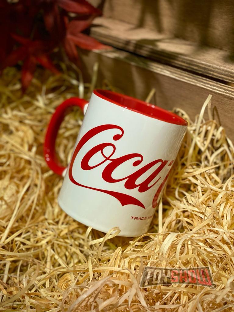 Caneca Porcelana: Coca-Cola: (Logo Classico Branco) - Urban