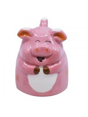 Caneca De Porcelana 3D: Porco (160 ml)