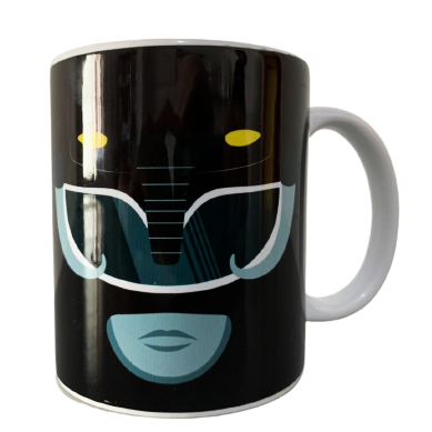 Caneca Power Ranger Preto (Branca)