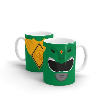 Caneca Power Ranger Verde (Branca)