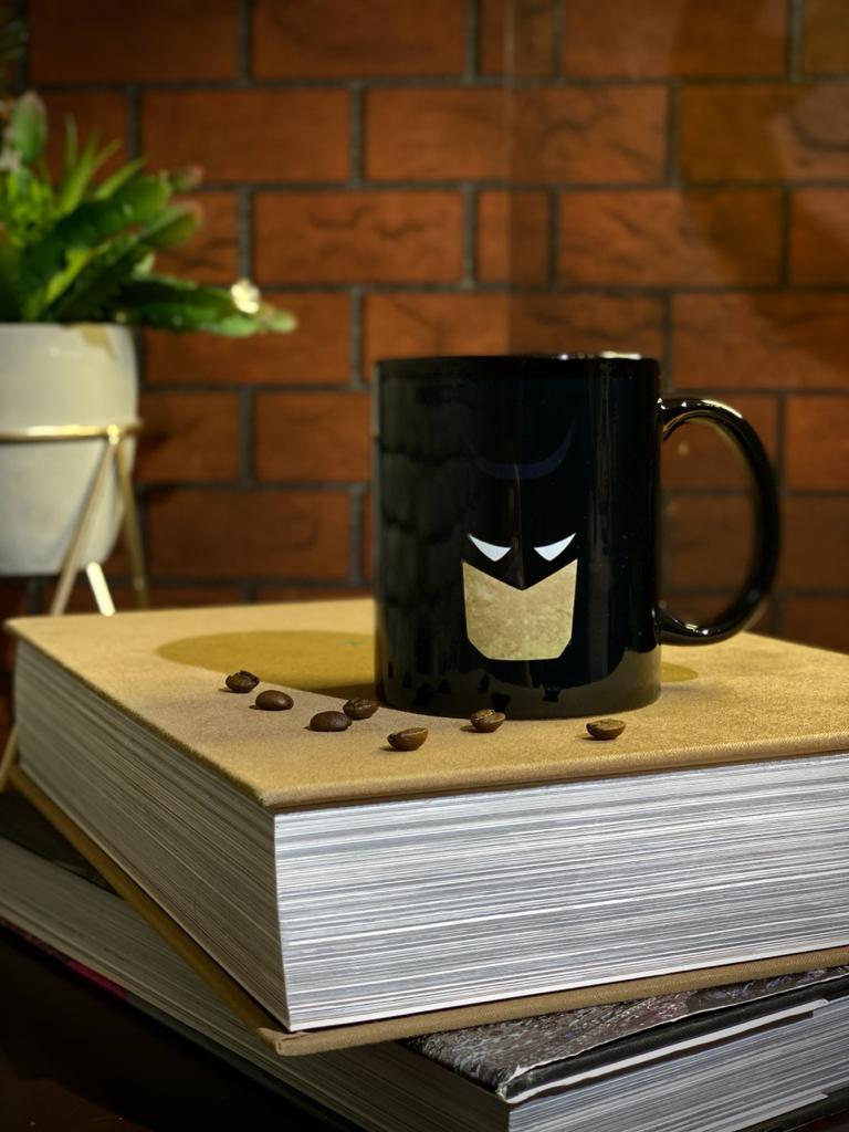 Caneca Preta Batman Face - EV