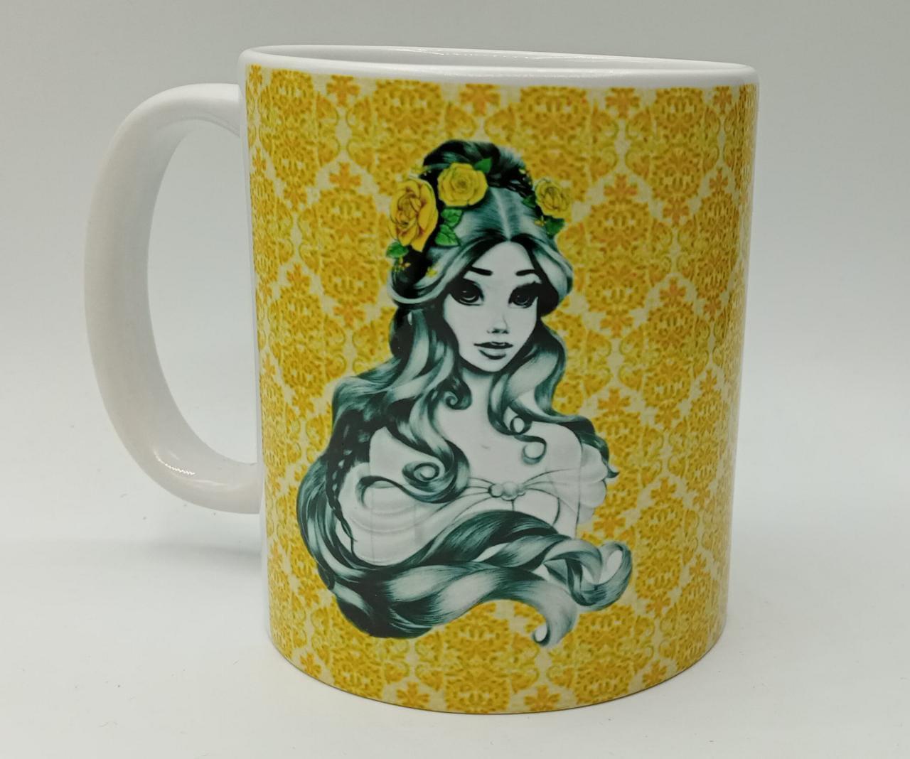 Caneca ''Princesa Bela'' - Disney (Branca)