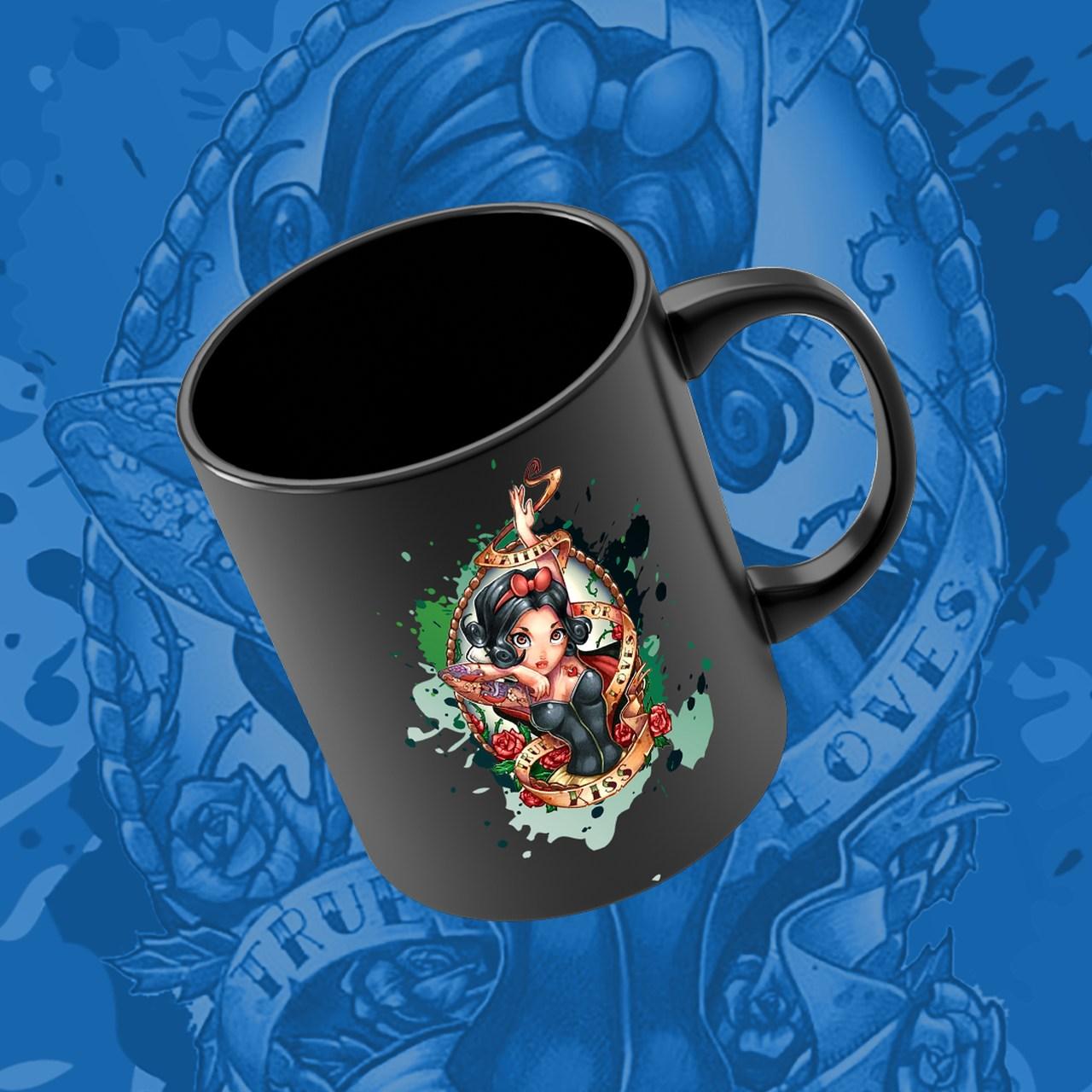 Caneca Princesa Branca de Neve - Disney (Preto) - EV